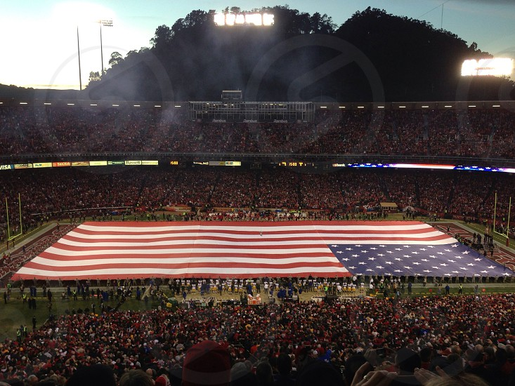 untied states of america flag  photo