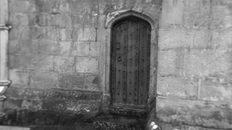 gray wooden door photo
