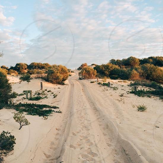 empty sand road photo