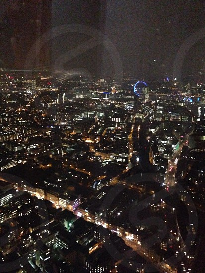 London at night.. View from the shard photo