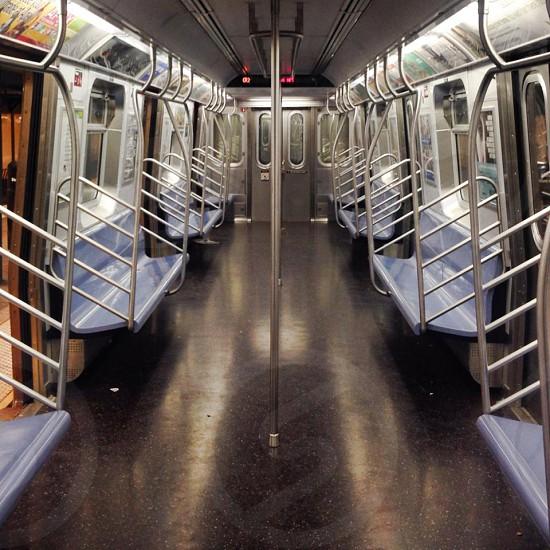 Empty NYC subway photo