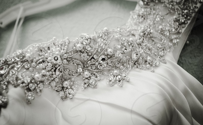 grayscale photo of lace photo