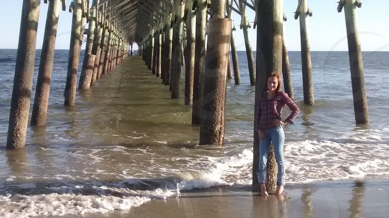 Folly Beach Pier Charleston South Carolina photo