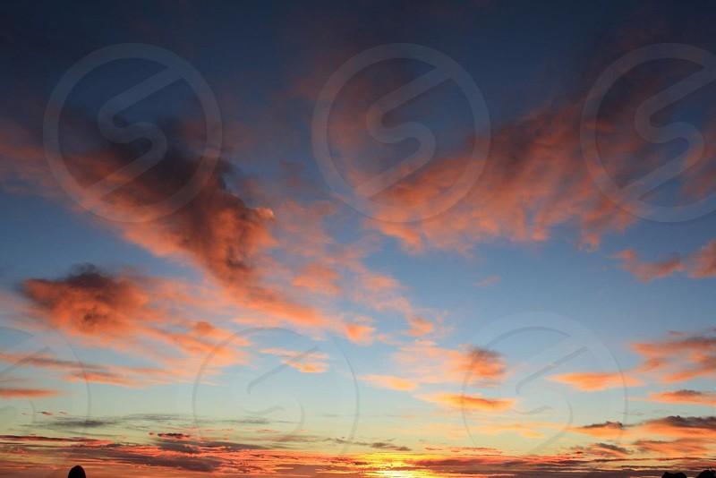 orange cloud during sunset photo