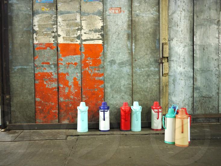 Coffee jugs photo