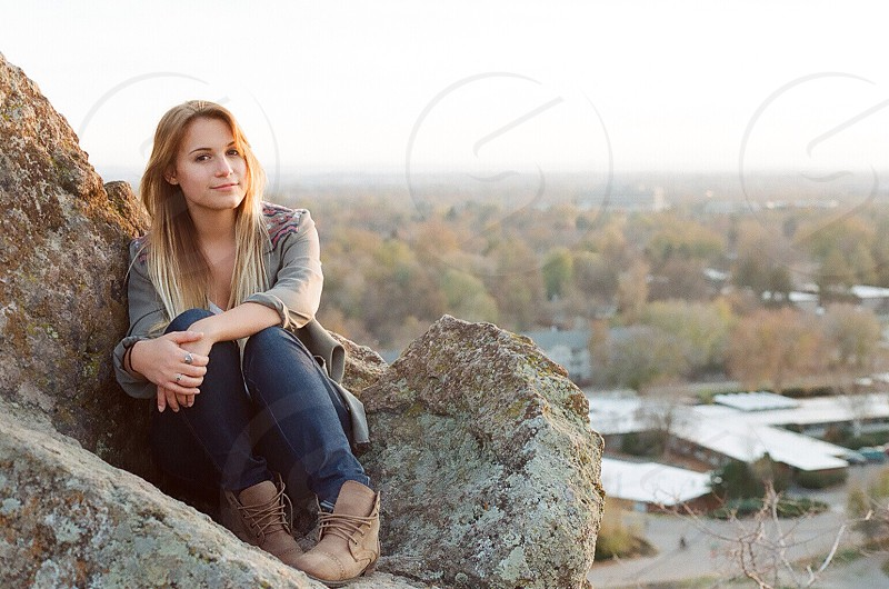 On the rocks.  photo
