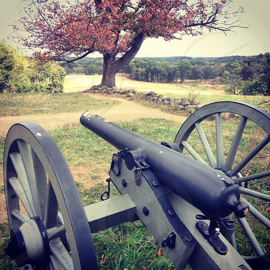 Gettysburg cannon civil war fall  photo
