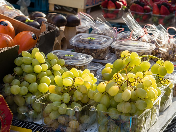 Fruits at the Havel Market in the Old Town of Prague Czech Republic photo