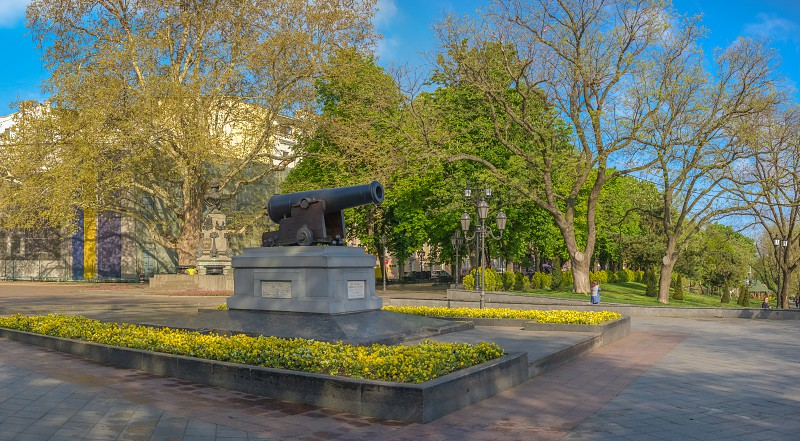 Odessa Ukraine - 02.05.2019. Spring in Odessa. Panoramic view of Primorsky boulevard photo