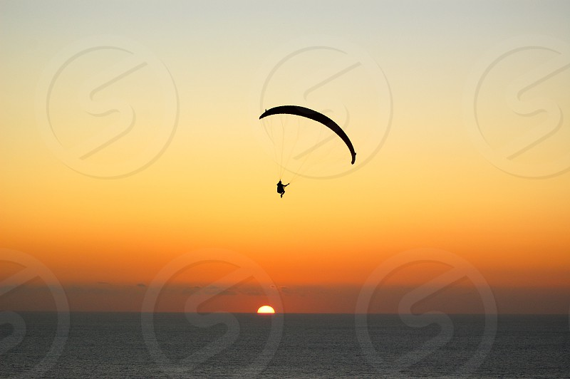 Paragliding over Torrey Pines. photo