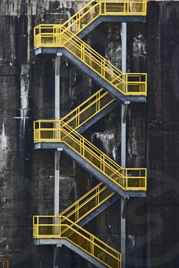 Yellow stairs photo