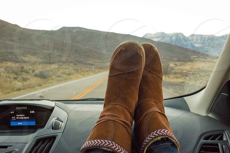 Rental Car Utah Boots Mountains photo
