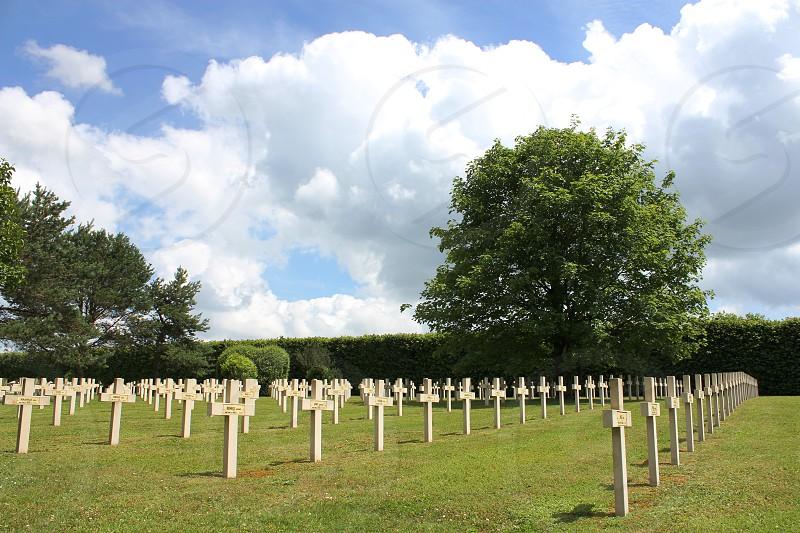 cross grave Verdun France sky memorial funeral photo