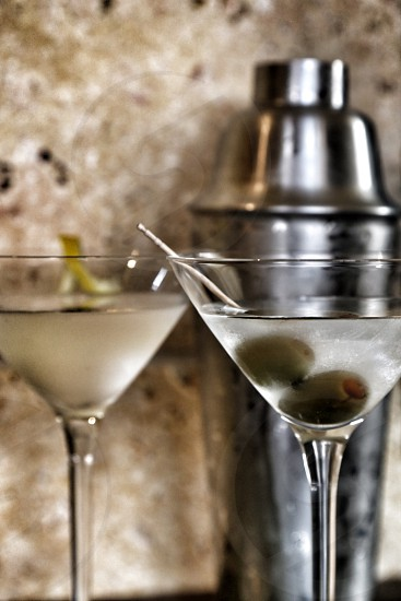 Martinis Up with Olives and a Twist photo
