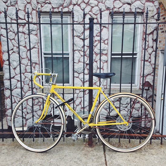 Yellow Schwinn Bike  photo