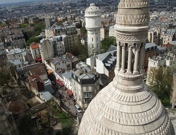 aerial view of grey dome like building photo