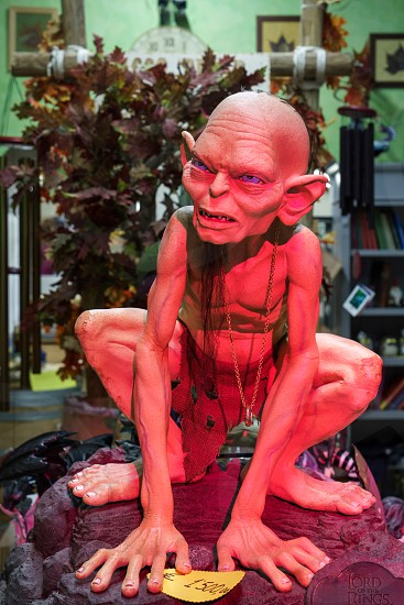 Model of Gollum for Sale in a Shop in Sarnico photo