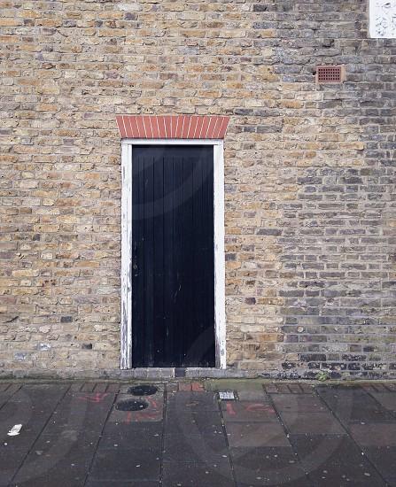 black wooden door closed photo