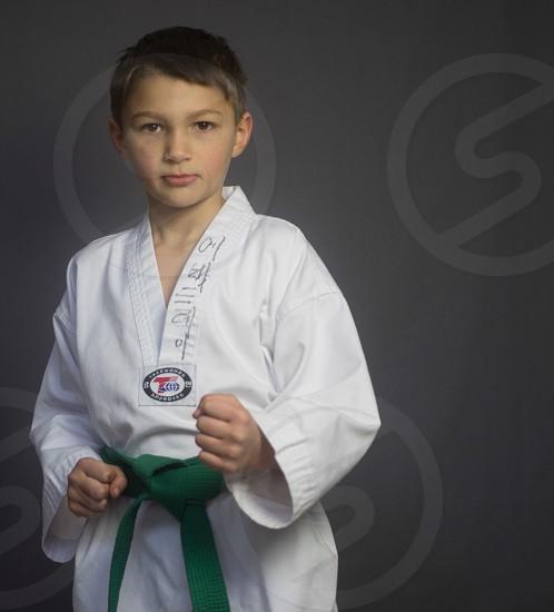 Boy martial arts karate photo