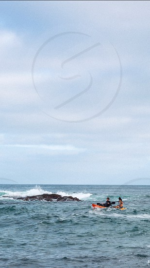 Laguna beach California roadtrippers road trip ocean kayak kayaking friends boys water beach  photo