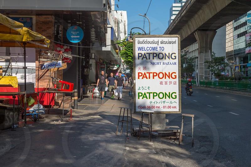 Patpong Night Market in Bangkok Thailand. photo