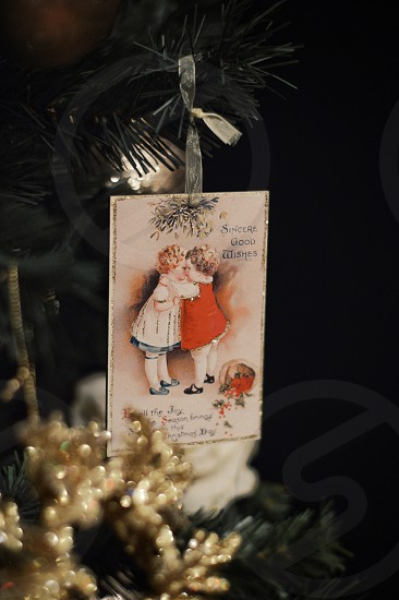 shallow focus photography of greeting card photo