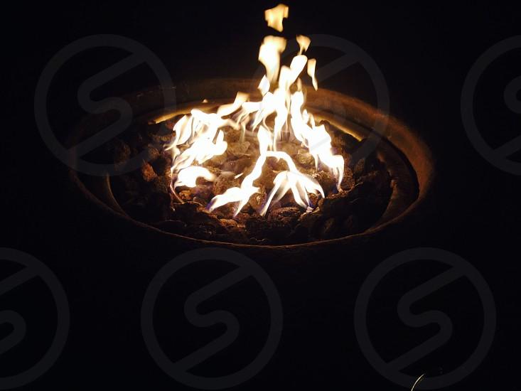 Fire inside photo
