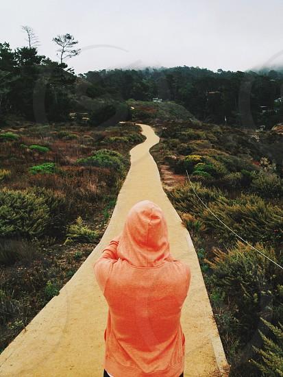 orange hoodie jakcet photo