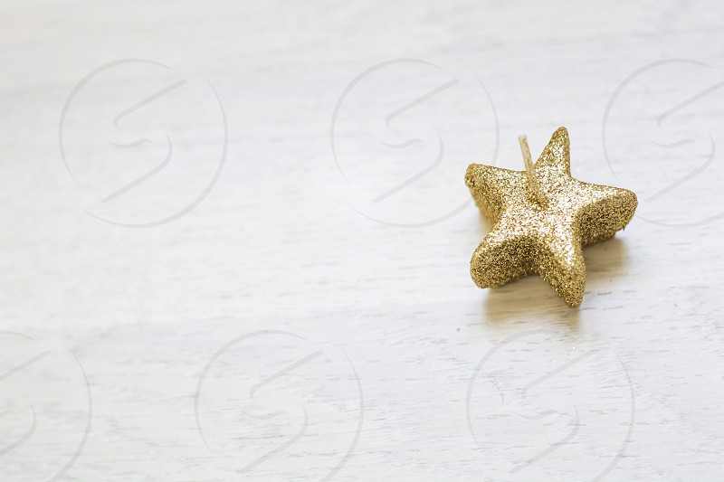star shaped candles photo