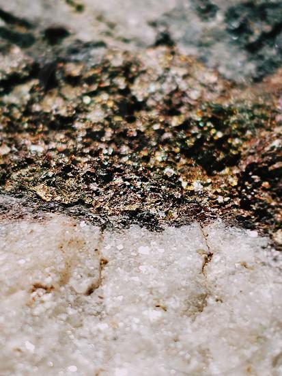 Macro Sparkly White Quartz and Fools Gold Crystal photo