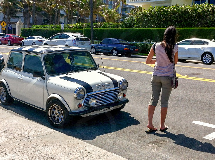 In The City Street Photography Vintage Car Mini Coop By Ivonne Echevarria Photo Stock Snapwire