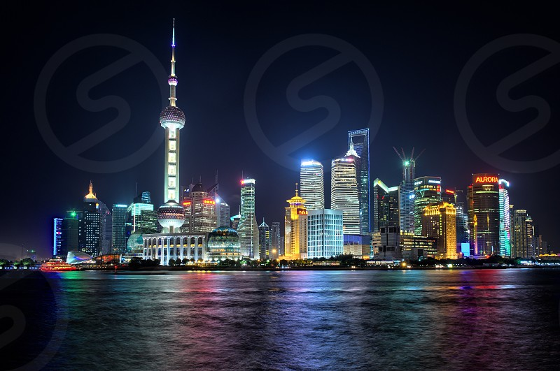 Shanghai Pudong at night photo