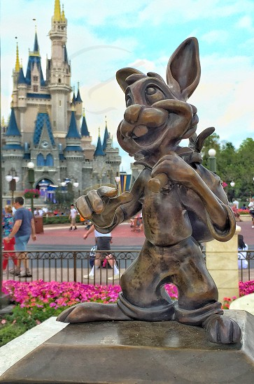 Disney magic kingdom Orlando rabbit castle travel vacation family photo