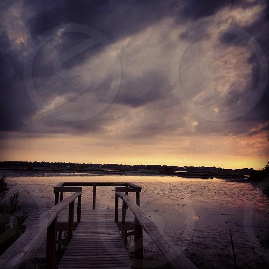 Cedar key florida dock photo