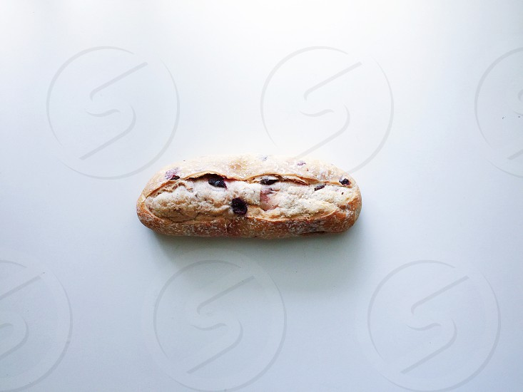 Bread loaf food bakery bake cook healthy lifestyle home eat rustic lunch minimalism minimalist white simplicity photo