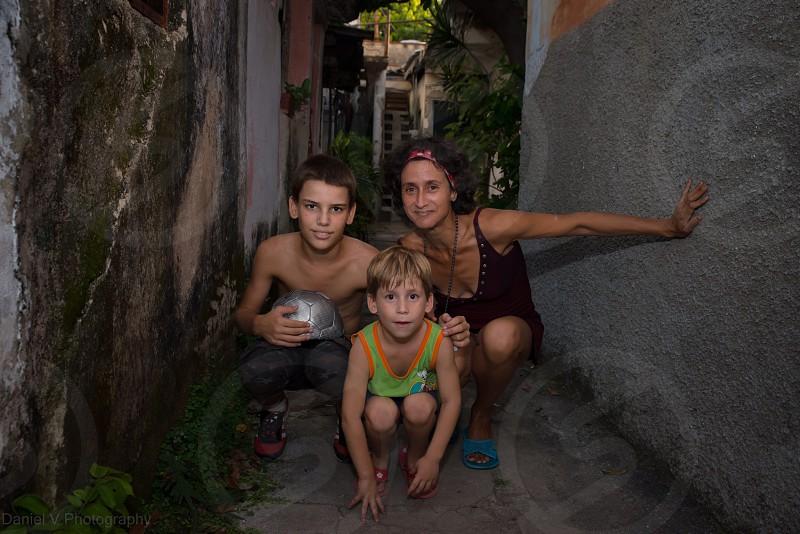 Cuban family Cuba family boys  photo