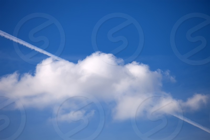 Contrail and Sky photo