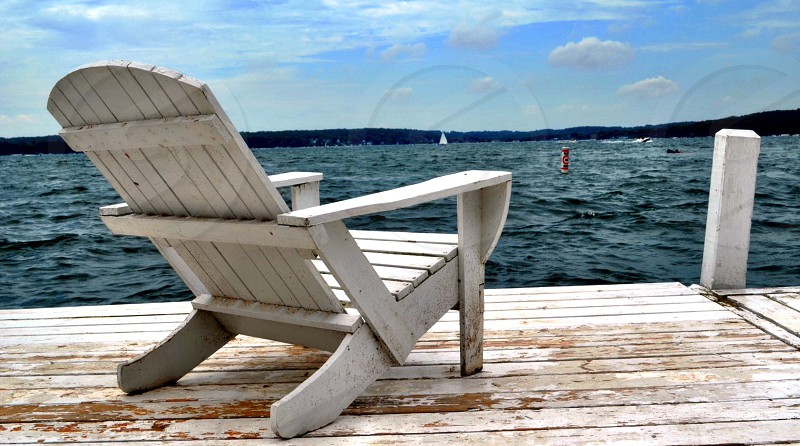 Pier Beach Chair Ocean Relax photo