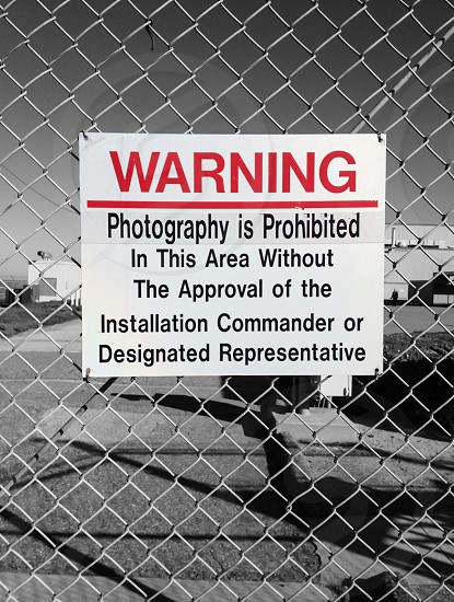 Photography Prohibited - US Air Force Base photo