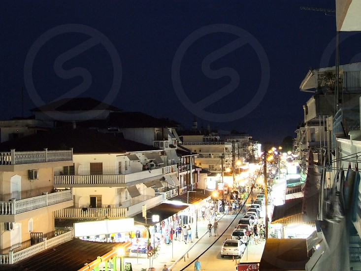 Paralia at night photo