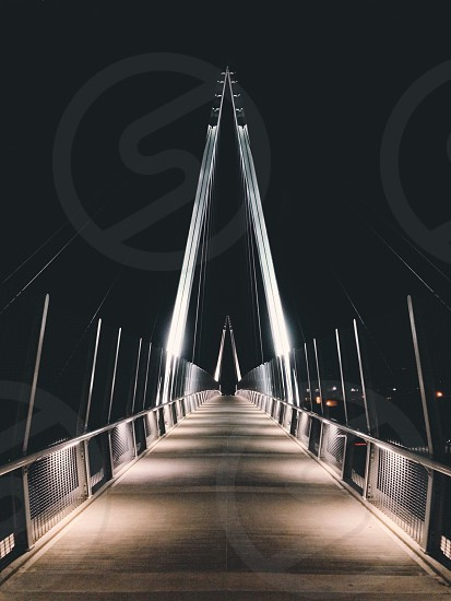 brown footbridge photo