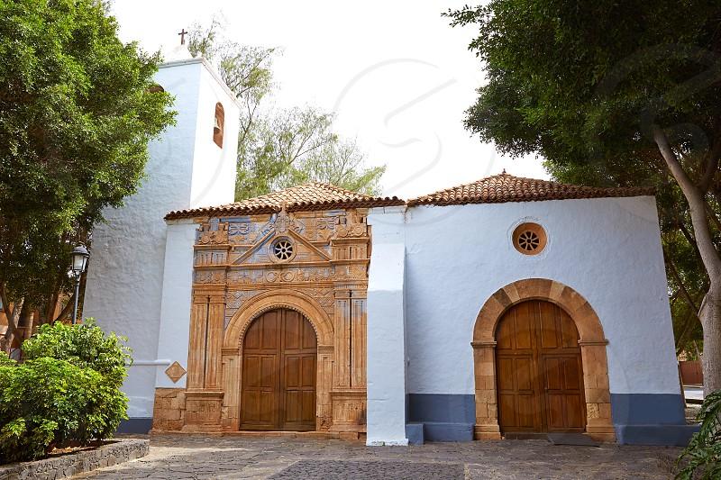 Pajara church Fuerteventura called Nuestra senora de Regla at Canary Islands photo