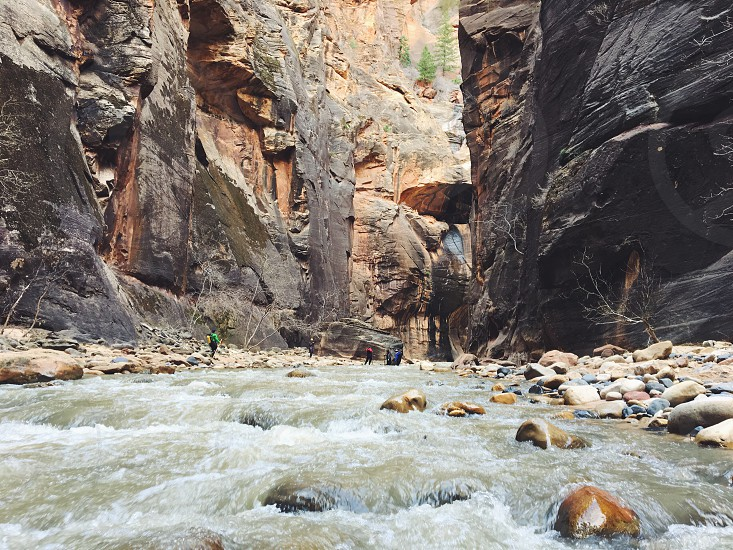 Zion National Park Travel Road Trip Mountains The Narrows Hike River Canyon photo