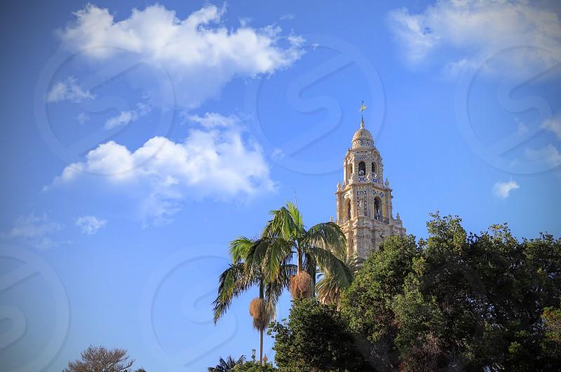 San Diego California USA - February 5 2018 - California Tower overlooking Balboa Park in San Diego California. photo
