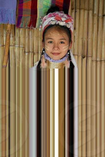 long neck people in Chiang Mai Thailand photo
