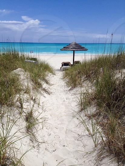 Beach relaxation Bahamas sand Caribbean Exuma Island Ocean turquoise blue water sun warmth sand sand dunes   photo