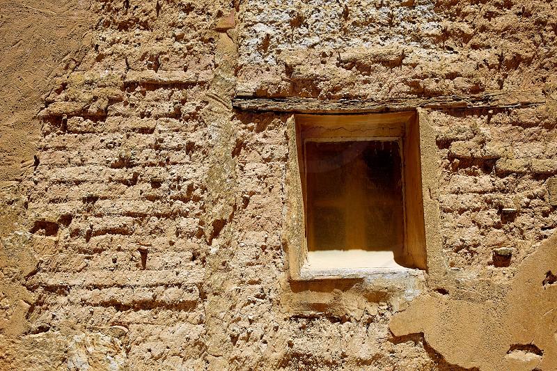 Castrojeriz adobe facades in the way of Saint James at Castilla Spain photo