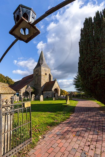 Gateway to Burwash Church photo