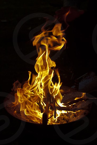 Faces in the flames photo