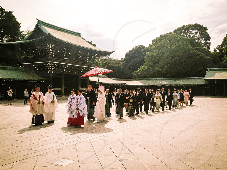 Wedding Japanese Traditional Shrine Celebrate Kimono Culture Japan photo